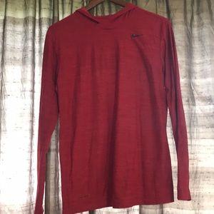 Nike Dry Fit Red Hoody Size Medium